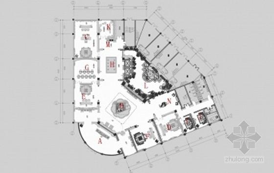 [湖南]豪华时尚尊贵典雅欧式古典售楼中心装修室内软装设计方案