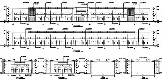 [新疆]门式刚架单层封闭式钢结构红酒加工车间结构施工图(含建筑图)