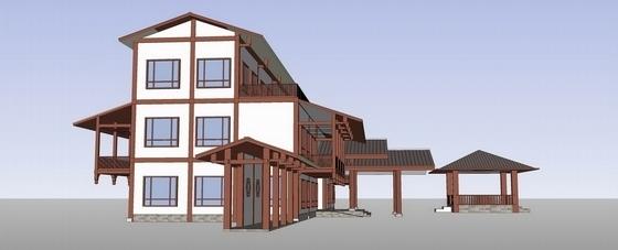 [福建]美轮美奂有机茶博园景观规划设计方案-模型图