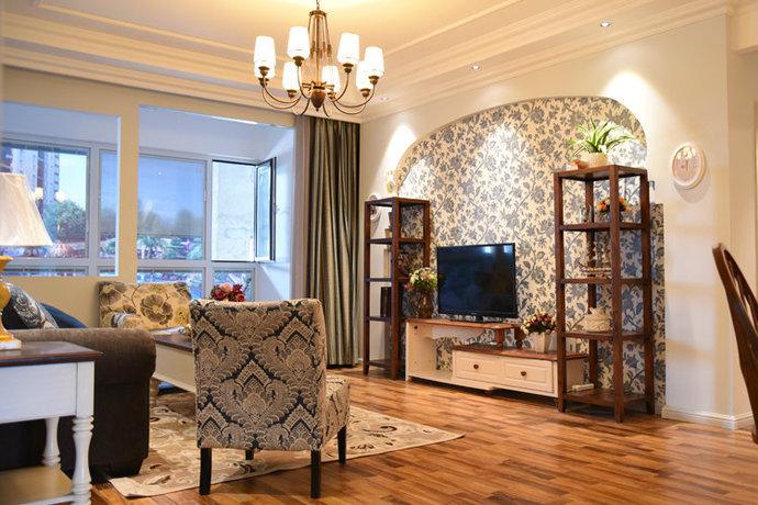 威廉美式田园风格都市公寓装修效果图