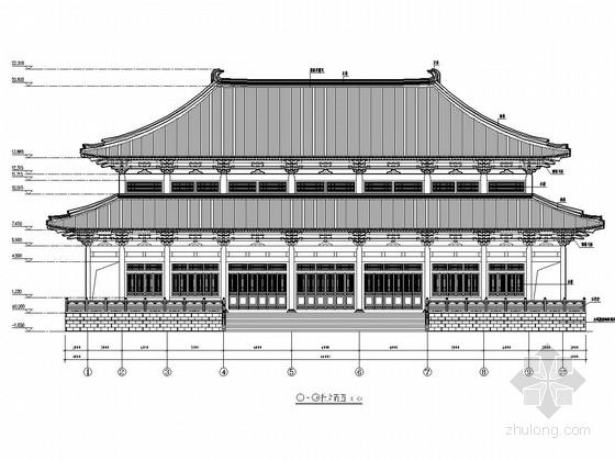 仿古大雄宝殿建筑结构全套施工图纸