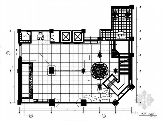 [福州]华丽大气有质感酒店大堂室内施工图(含效果图)