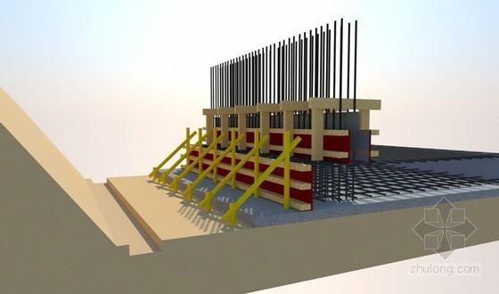 [江苏]旅游中心模板工程专项施工方案(三维节点效果图)