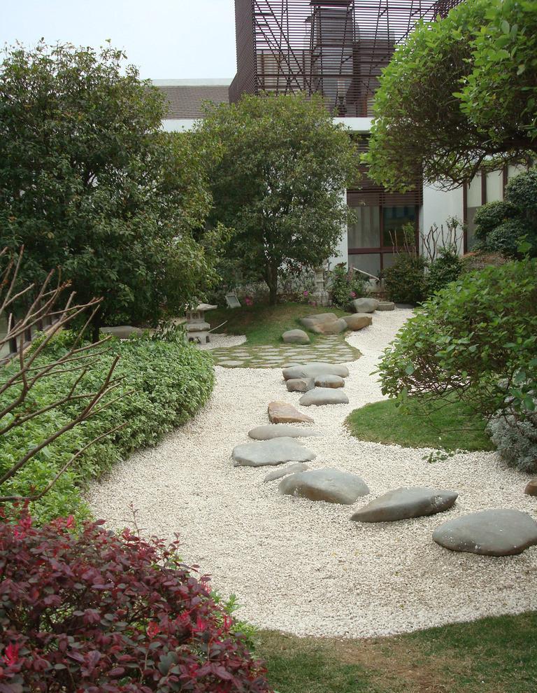 别墅园林 踏脚石 石景
