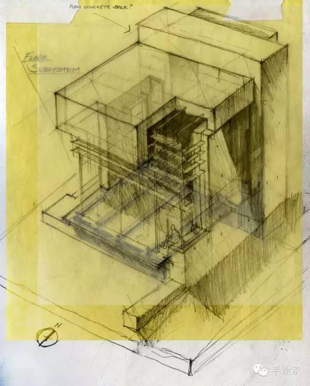 百年经典建筑设计手绘图_16