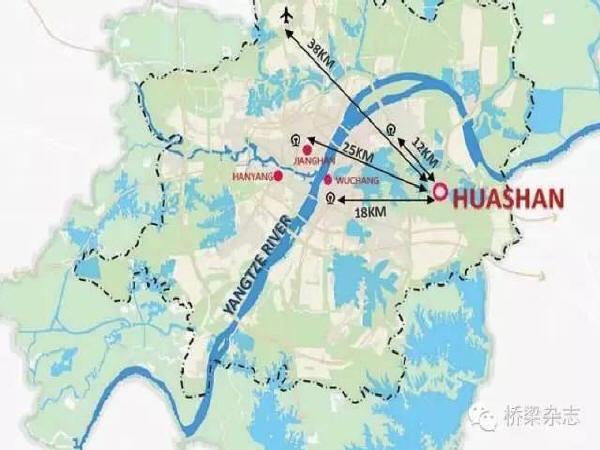 桥梁与城市的亲密对话 ——武汉花山河景观桥梁设计