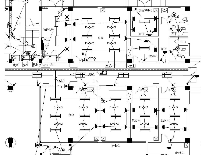 某医院电气强弱电施工图(包括护理呼应信号系统图)_9