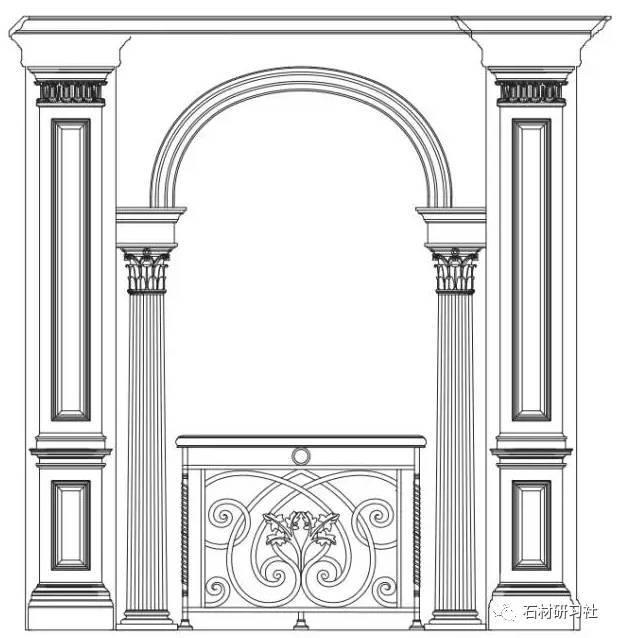 石材护墙板CAD设计图