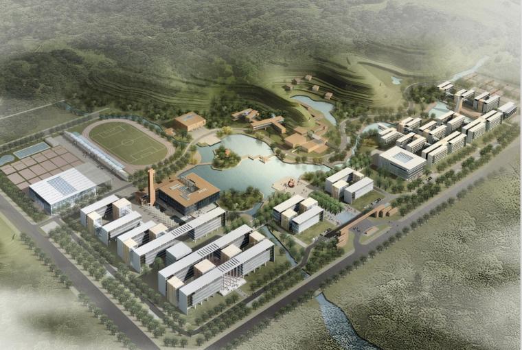 [云南]三层现代风格高等专科学校新校园建筑设计方案文本
