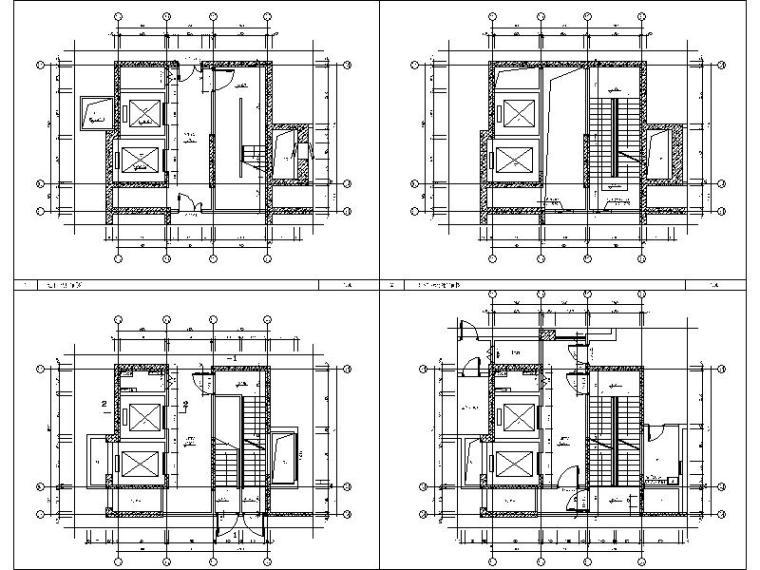 [广西]经典欧式立面风格高层住宅施工图-经典欧式立面风格高层住宅大样图