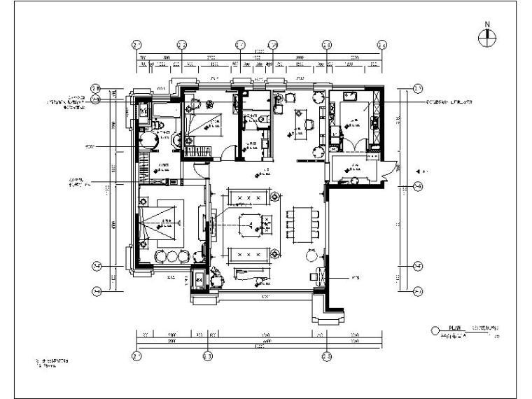 [大连]法式风格样板间设计施工图(含效果图)