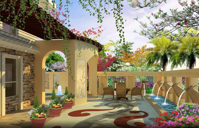 重庆冠领园林私家花园庭院设计:保利花园_5