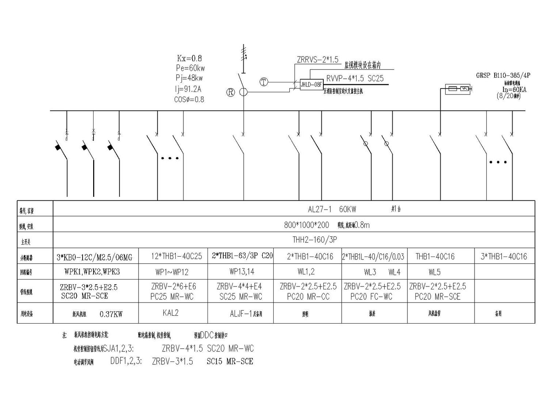 [河北]辛集鑫苑国际城国际城大酒店高低压配电系统图(含设计说明和施工说明)_1