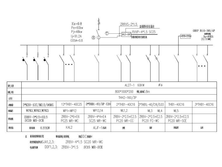 [河北]辛集鑫苑国际城国际城大酒店高低压配电系统图(含设计说明和施工说明)