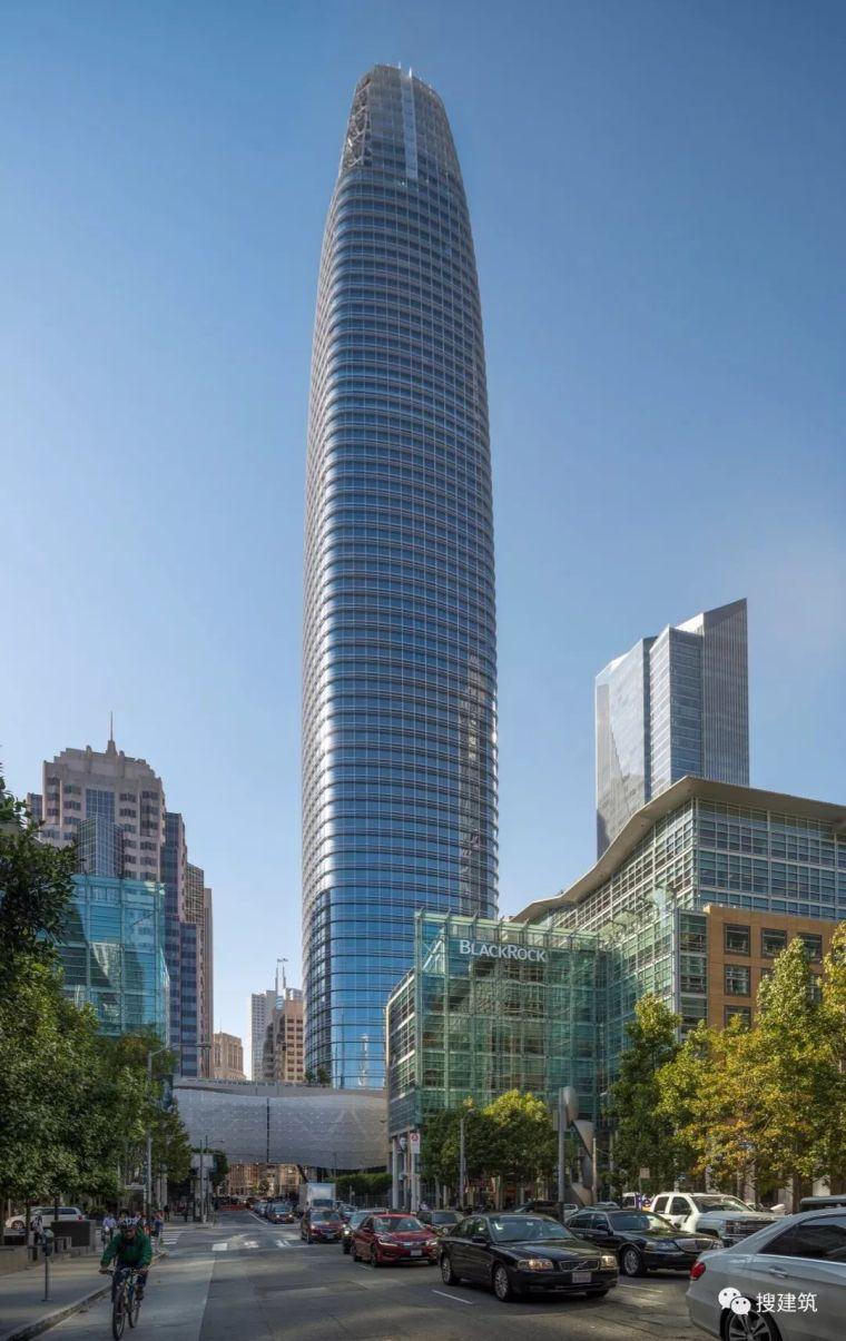美国旧金山最高的建筑,326米锥形塔楼(平面+立面)