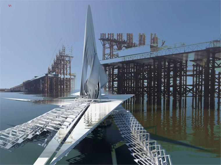 乌兰木伦河上的旋转大桥-4