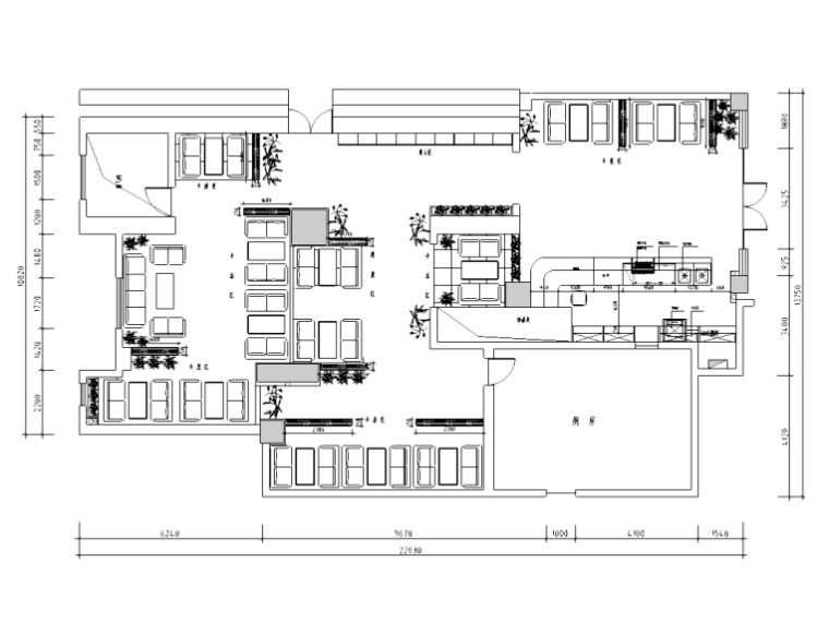 现代简约风格——北京第五大道咖啡厅装修施工图
