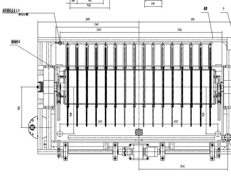 PD80A-080平16盘陶瓷过滤机安装总图