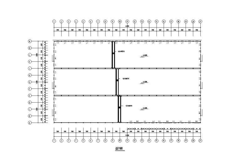 轻型门式钢屋架栋厂房设计施工图(钢结构)
