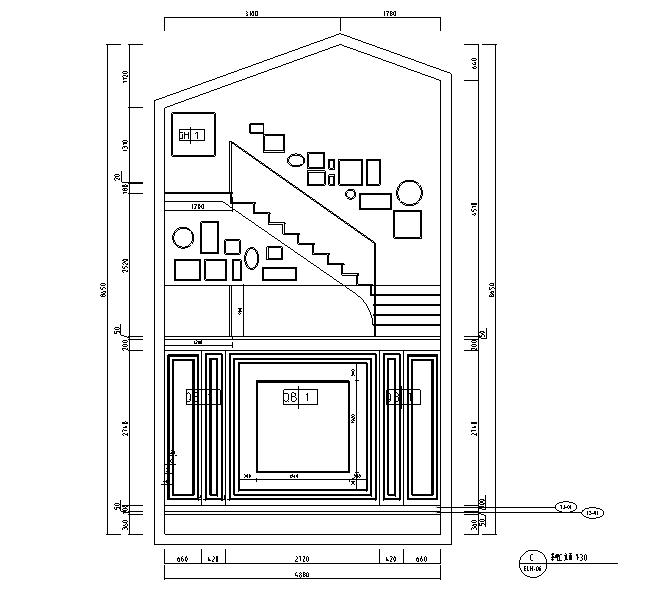 [河北]新古典风格三层别墅样板房施工图(含效果图)_5