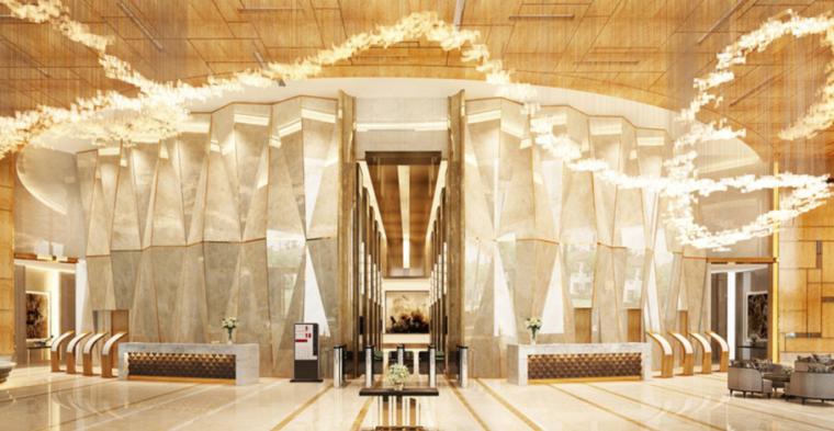 [山东]雨润青岛国际广场临时售楼处空间设计方案文本