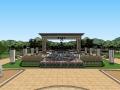 廉政主题公园景观设计SU模型