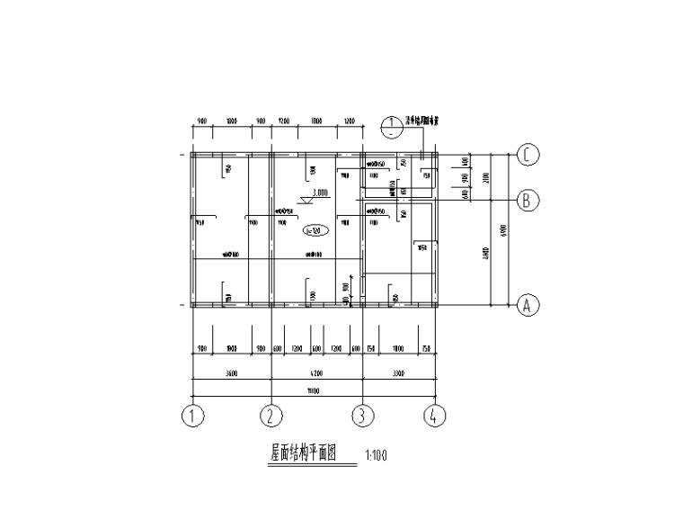 单层砌体结构发电室结构施工图(2015)