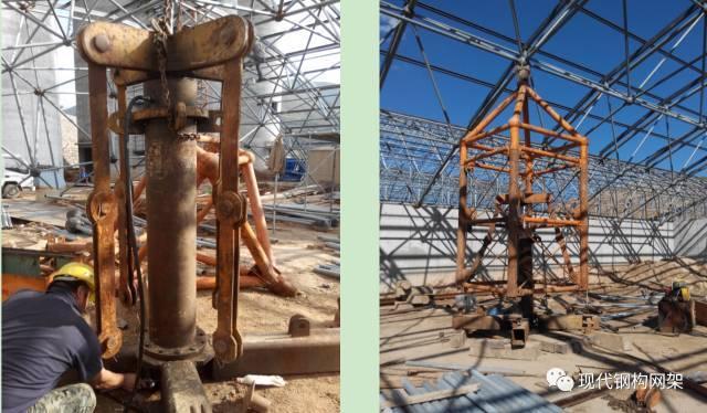 大跨度煤棚焊接球网架液压顶升施工技术_12