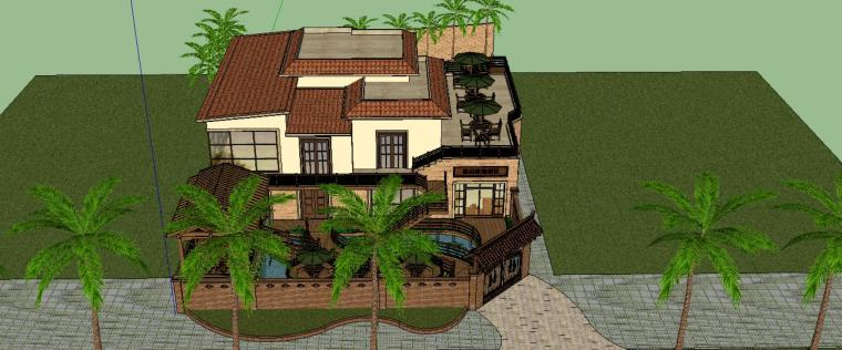 别墅景观设计模型