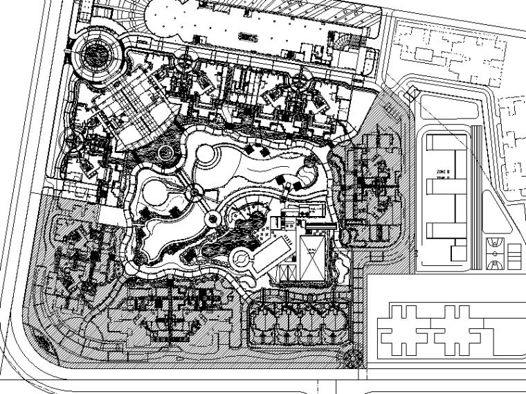 [广东]新世界景观方案施工图设计(包含95页)