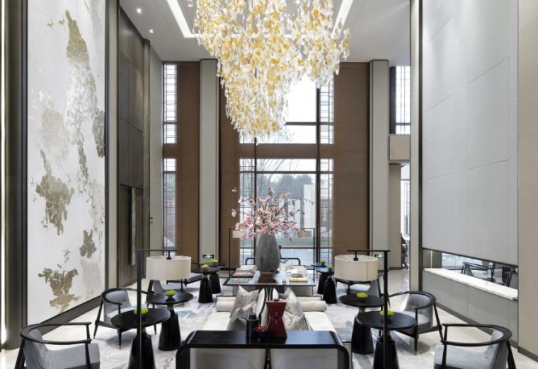 绿地国博城售楼中心资料下载-[北京]绿地海珀云翡售楼空间设计方案文本