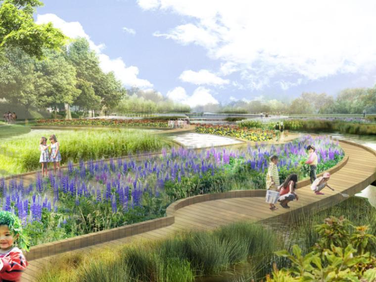 [吉林]长春中央滨水公园景观设计方案(城市滨水)