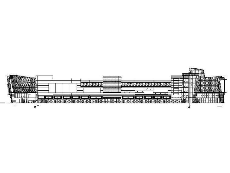 [广东]佛山黄歧嘉洲商业广场建筑设计CAD施工图