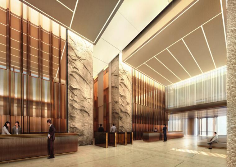 [上海]外滩国际金融服务中心办公概念汇报文本+办公室内效果图