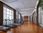 现代健身房3D模型下载