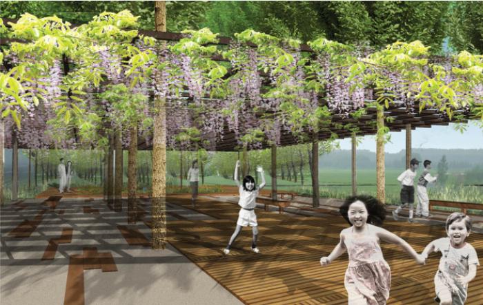 [山东]绿岛湿地田园区旅游度假村景观设计深化方案