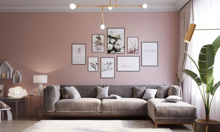 把墙刷成裸粉色,好看到哭!_22