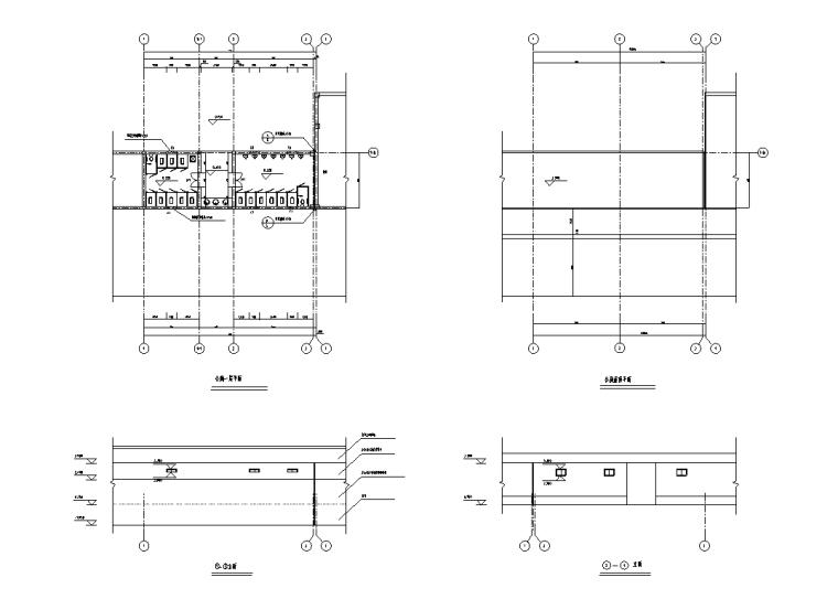 索引图,特色廊架结构详图,四角亭平立面图,厕所平面图等,共14个cad
