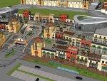 商业街,现代主义风格,2层不错的商业模型