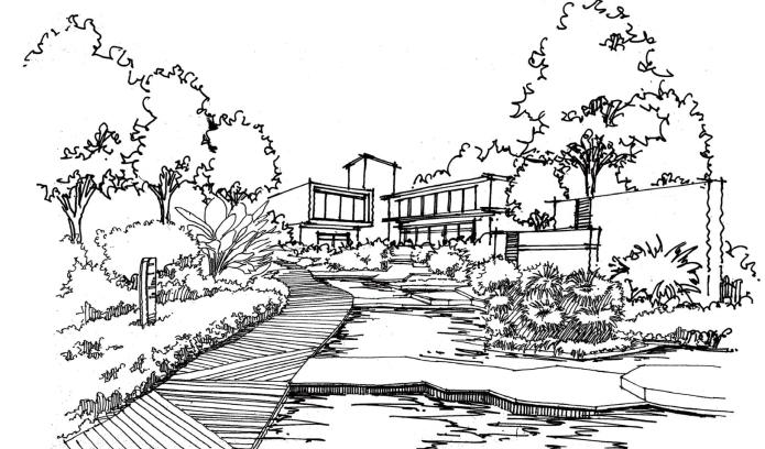 风景园林手绘线稿,可下载打印_7