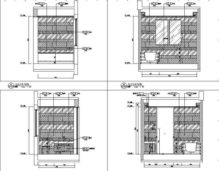 【广东】现代东方内涵风格别墅设计施工图(附效果图+材料表)_3