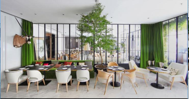 """""""神秘森林""""里的雅痞空间咖啡厅室内设计实景图"""