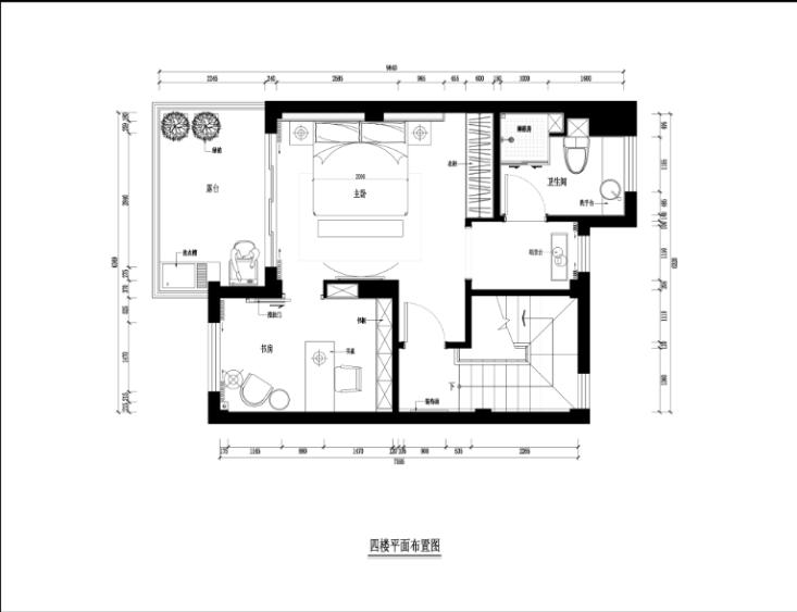 某中式建欧别墅室内装修设计施工图及效果图_5