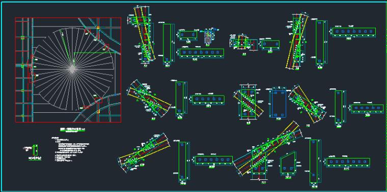 时代广场步行街屋顶钢结构施工图_5