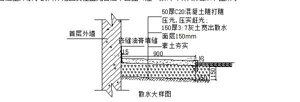 室外散水施工技术交底