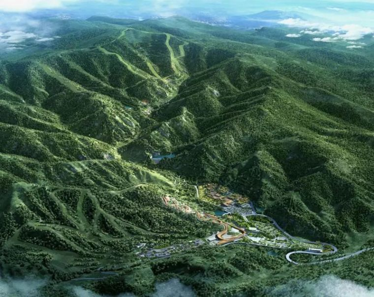 世界顶尖的设计这样完成!北京冬奥会延庆赛区场馆规划惊艳出炉!