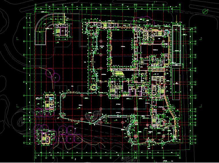 三亚某高级酒店建筑结构设计图(含水电暖)