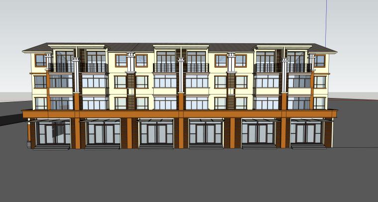 乡村居住区规划建筑模型设计