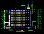 8层框剪结构宾馆商住楼建筑图