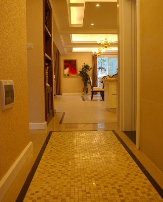 雅安三层豪华别墅室内设计施工图(含效果图)-走道实景图